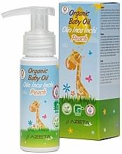 Voňavky, Parfémy, kozmetika Organický broskyňový olej pre bábätká s Inca Inchi - Azeta Bio Organic Baby Peach Oil Inca Inchi