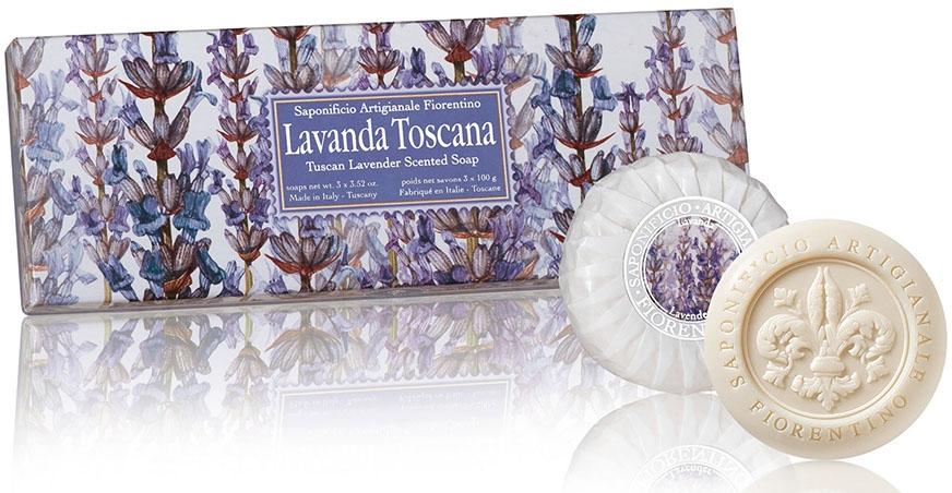 """Sada mydla """"Levanduľa """" - Saponificio Artigianale Fiorentino Tuscan Lavender Scented Soap"""