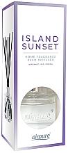 Voňavky, Parfémy, kozmetika Aromatický difúzor Západ slnka na ostrove - Airpure Reed Diffuser Island Sunset