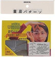 Voňavky, Parfémy, kozmetika Šablóna na obočie, veľkosť C5, C6, C7, C8 - Magical Eyebrow Style