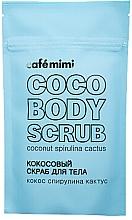 """Voňavky, Parfémy, kozmetika Kokosový telový scrub """"Kokos, spirulina a kaktus"""" - Cafe Mimi Coco Body Scrub Coconut Spirulina Cactus"""