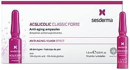 Voňavky, Parfémy, kozmetika Ampulky s kyselinou glykolovou proti starnutiu - SesDerma Laboratories Acglicolic Classic Forte Anti-Aging Ampoules
