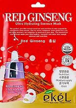Voňavky, Parfémy, kozmetika Textilná maska s extraktom z červeného ženšenu - Ekel Red Ging Seng Ultra Hydrating Essence Mask
