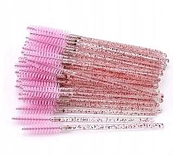 Voňavky, Parfémy, kozmetika Jednorazové štetce na mihalnice a obočie, priesvitné ružové - Lewer