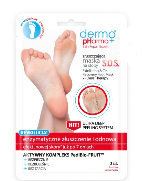 Maska-peeling pre nohy - Dermo Pharma Skin Repair Expert S.O.S. Exfoliating & Cell Recovery Foot Mask
