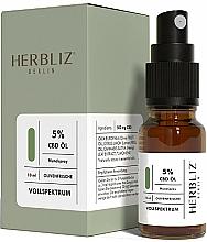 """Voňavky, Parfémy, kozmetika Olejový ústny sprej """"Oliva"""" 5% - Herbliz CBD Olive Fresh Oil Mouth Spray 5%"""