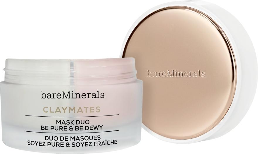 Čistiaca a hydratačná maska na tvár s dvojitým účinkom - Bare Escentuals Bare Minerals Claymates Be Pure & Be Dewy Mask Duo — Obrázky N1
