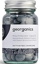 """Voňavky, Parfémy, kozmetika Tabletky na výplach úst """"Aktívne uhlie"""" - Georganics Mouthwash Tablets Activated Charcoal"""