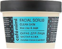 """Voňavky, Parfémy, kozmetika Scrub na tvár """"Čistá pokožka"""" - Cafe Mimi Facial Scrub Clean Skin"""