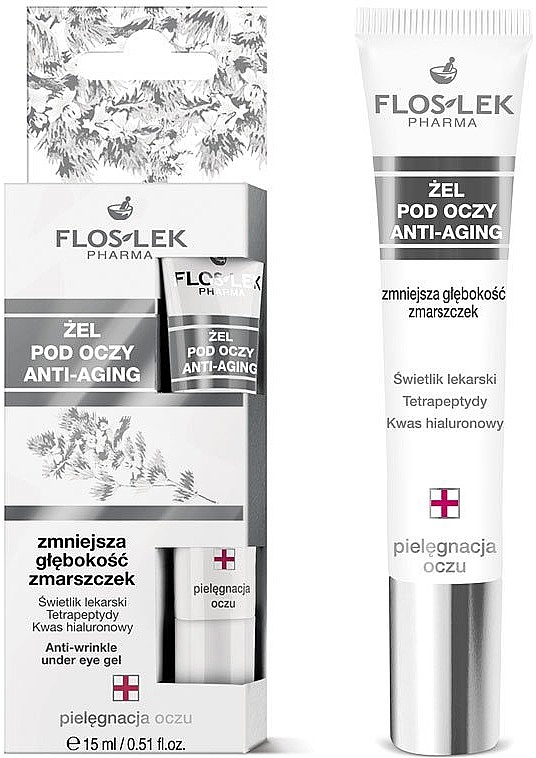 Gél na očné viečka a pleť okolo očí - Floslek Lid And Under Anti-Aging Eye Gel