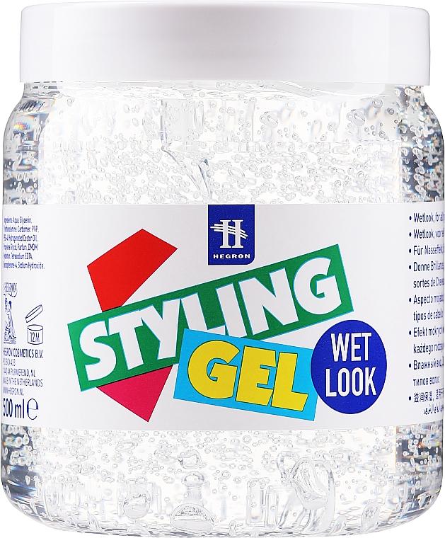 "Gél pre úpravu vlasov ""Mokrý efekt"" - Hegron Styling Gel Wet Look"