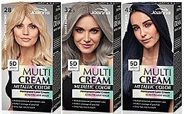 Voňavky, Parfémy, kozmetika Farba na vlasy - Joanna Multi Cream Color Metallic
