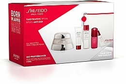 Voňavky, Parfémy, kozmetika Sada - Shiseido Bio-Performance Time Fighting Ritual (cr/50ml + conc/10ml + foam/15ml + softner/30ml + conc/3ml + bag)