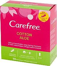Voňavky, Parfémy, kozmetika Hygienické denné vložky s výťažkom z aloe, 56 ks - Carefree Cotton Aloe