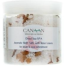 Voňavky, Parfémy, kozmetika Vonná soľ do kúpeľa s okvetnými lístkami ruží - Canaan Minerals & Herbs Aromatic Bath Salts With Rose Leaves