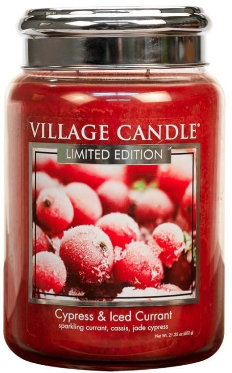Vonná sviečka v nádobe - Village Candle Cypress & Iced Currant Glass Jar — Obrázky N1
