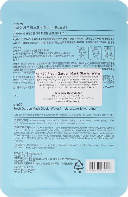 Látková maska na tvár - Skin79 Fresh Garden Mask Glacial Water — Obrázky N2
