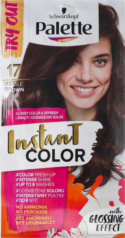 Tonujúci šampón na vlasy bez amoniaku - Schwarzkopf Palette Instant Color