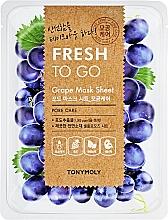 Voňavky, Parfémy, kozmetika Osviežujúca maska s hroznom - Tony Moly Fresh To Go Mask Sheet Grape