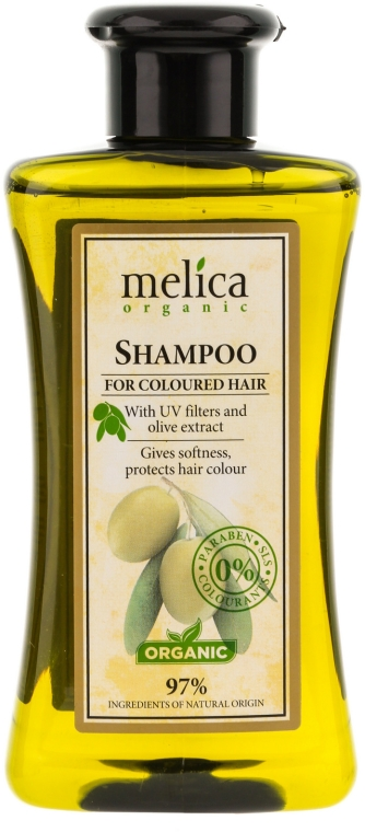 Šampón na farbené vlasy - Melica Organic For Coloured Hair Shampoo