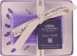Voňavky, Parfémy, kozmetika Prírodné mydlo s keramickou mydlovničkou - Le Chatelard Lavande Soap