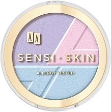 Voňavky, Parfémy, kozmetika Prostriedok na kontúrovanie tváre 3v1 - AA Sensi Skin 3In1 Holographic Set