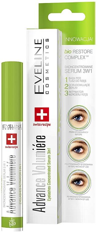 Aktívne sérum na riasy 3 v 1 - Eveline Cosmetics Cosmetics Eyelashes Concentrated Serum 3In1