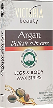 Voňavky, Parfémy, kozmetika Depilačné pásy na telo a nohý s arganovým olejom - Victoria Beauty Delicate Skin Care Legs & Body Waxing Strips Argan