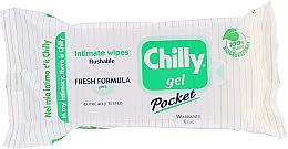 """Voňavky, Parfémy, kozmetika Obrúsky na intímnu hygienu """"Črstvosť"""" - Chilly Gel Fresh Intimate Wipes"""