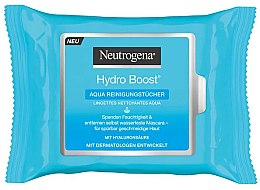 Voňavky, Parfémy, kozmetika Čistiace vlhčené utierky - Neutrogena Hydro Boost