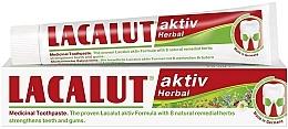"""Voňavky, Parfémy, kozmetika Zubná pasta """"Aktiv herbal"""" - Lacalut Aktiv Herbal Toothpaste"""