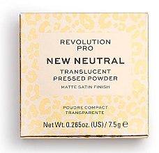 Voňavky, Parfémy, kozmetika Trasnparentný púder na tvár - Revolution Pro New Neutral Translucent Pressed Powder