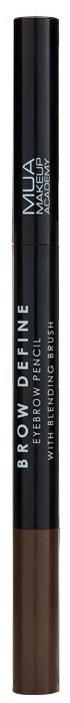 Ceruzka na obočie - MUA Brow Define Eyebrow Pencil With Blending Brush