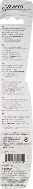 Zubná kefka strednej tvrdosti, zeleno ružová - Yaweco Toothbrush Natural Medium — Obrázky N2