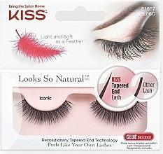 Voňavky, Parfémy, kozmetika Falošné riasy - Kiss Look So Natural Lashes Iconic