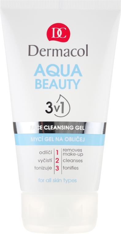 Čistiaci gél - Dermacol Aqua Beauty 3v1 Face Cleansing Gel