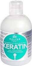 Voňavky, Parfémy, kozmetika Šampón s keratínom a mliečnym proteínom - Kallos Cosmetics Keratin Shampoo