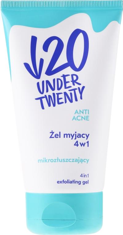Regulačná maska + čistiaci gél + peeling-scrub 4v1 - Under Twenty Anti! Acne 4 in 1 Exfoliarting Gel — Obrázky N1