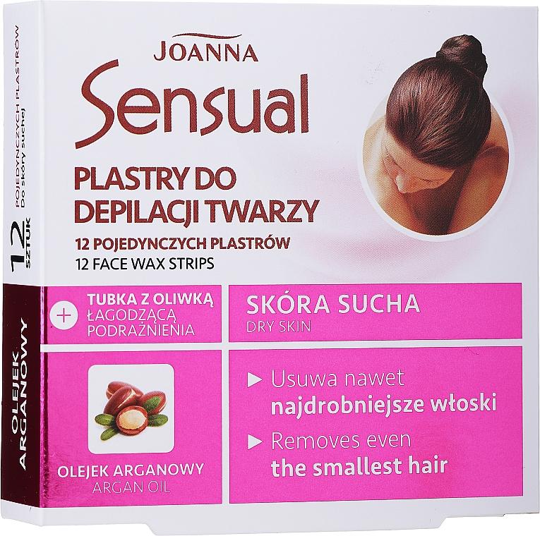 Náplasť s voskom na depiláciu tváre s arganovým olejom - Joanna Sensual Depilatory Face Strips