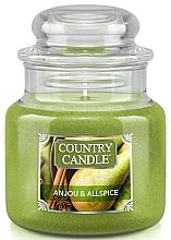 Voňavky, Parfémy, kozmetika Vonná sviečka v pohári - Country Candle Anjou & Allspice