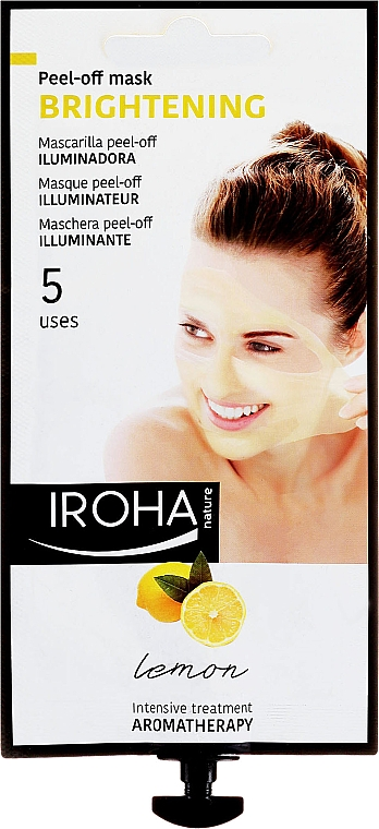 Maska na tvár - Iroha Nature Brightening Peel-Off Mask Lemon — Obrázky N1