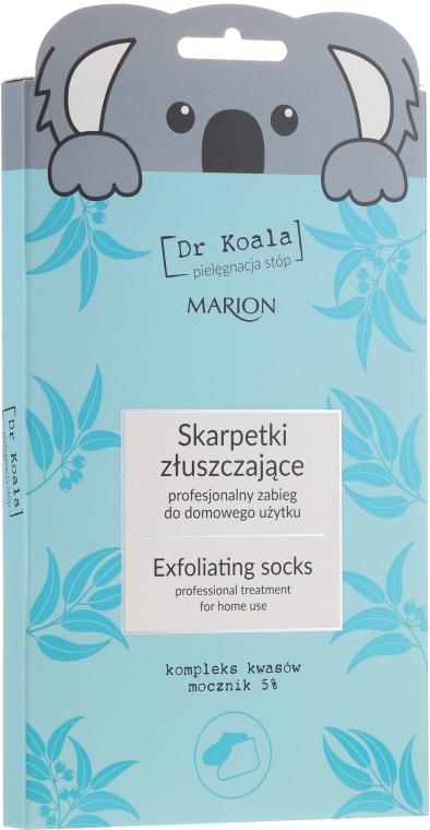 Exfoliačná maska-ponožky na nohy - Marion Dr Koala Exfoliating Socks