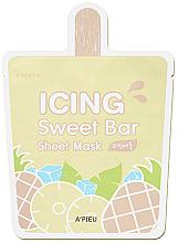 "Voňavky, Parfémy, kozmetika Látková maska ""Zmrzlina-Ananás"" - A'pieu Icing Sweet Bar Sheet Mask"