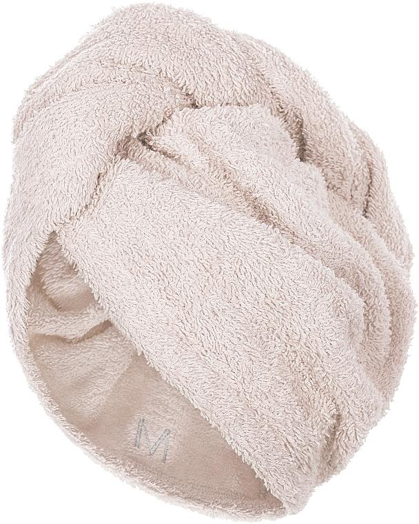 Uterák-turban na vlasy, bežový - MakeUp