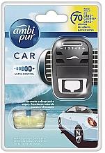 """Voňavky, Parfémy, kozmetika Sada na aromatizáciu automobilov """"Voda"""" - Ambi Pur (freshener/1szt+refill/7ml)"""