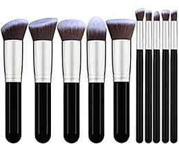 Voňavky, Parfémy, kozmetika Sada štetcov na líčenie, 10 ks - Fascination Black & Grey Complexion & Eyes