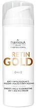 Voňavky, Parfémy, kozmetika Upokojujúci a rozjasňujúci krém na tvár - Farmona Retin Gold Smoothing & Illuminating Anti-Ageing Cream