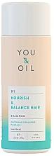 """Voňavky, Parfémy, kozmetika Šampón na vlasy """"Výživa a rovnováha"""" - You&Oil Nourish & Balance Hair Shampoo"""