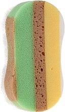 Sprchová špongia 6047, žlto-zelená - Donegal — Obrázky N1