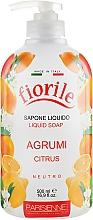 "Voňavky, Parfémy, kozmetika Tekuté mydlo ""Citrus"" - Parisienne Italia Fiorile Citrus Liquid Soap"